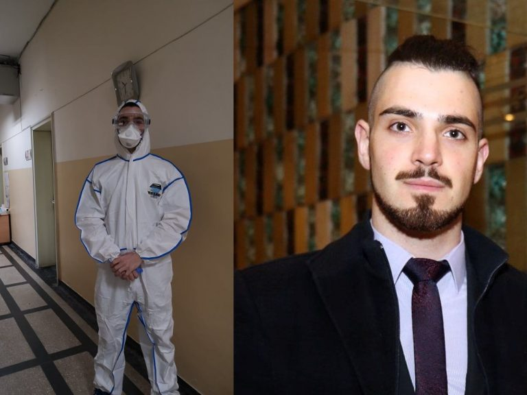 Стефан Иванов е поредният студент, който застана на първата линия в Инфекциозна клиника